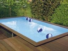 Een nieuw polyester zwembad!